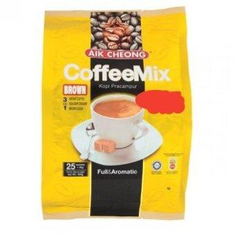Harga Aik Cheong 3 In 1 Brown Coffee Mix (25 Sachets x 20g) 500g