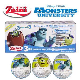 Harga 3 Zaini Eggs Disney Monsters University Chocolate Surprise Toy Joy 60G