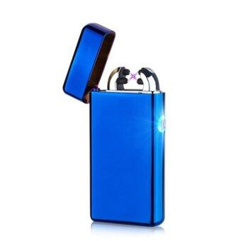 Harga Maikou USB Charging Double Cross Arc Fire Lighter - Blue