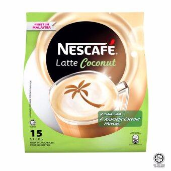 Harga NESCAFE Latte Coconut 15 Sticks, 30g Each