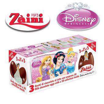 Harga 3 Zaini Eggs Disney Princess Chocolate Surprise Toy Joy 60G