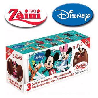Harga 3 Zaini Eggs Disney Mickey Mouse Chocolate Surprise Toy Joy 60G