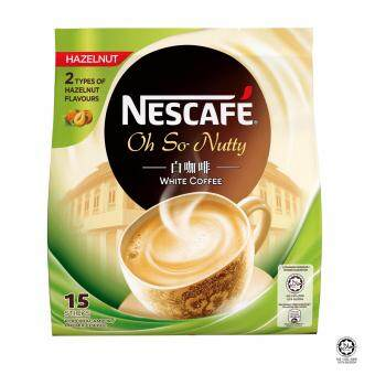 Harga NESCAFE White Coffee Hazelnut 15 Sticks, 36g Each