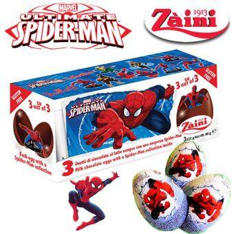 Harga 3 Zaini Eggs Marvel Spiderman Chocolate Surprise Toy Joy 60G