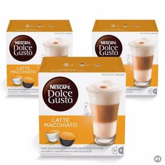 Harga NESCAFE Dolce Gusto Latte Macchiato Coffee Bundle of 3 Boxes