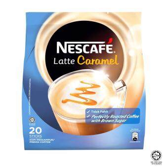 Harga NESCAFE Latte Caramel 20 Sticks, 25g Each