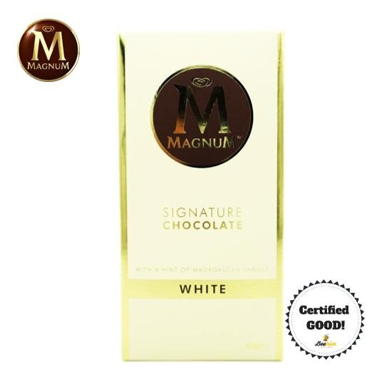 Magnum Signature Chocolate White with a Hint of Madagascan Vanilla 90g *FREE Gift*