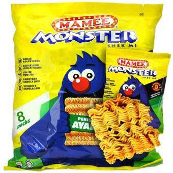 Harga Mamee Monster Snack Chicken Flavor 25g X 8 packs