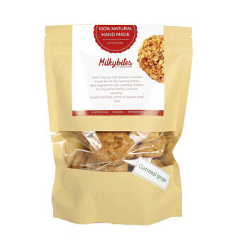 MilkyBites Lactation Cookies - Oatmeal Ginger