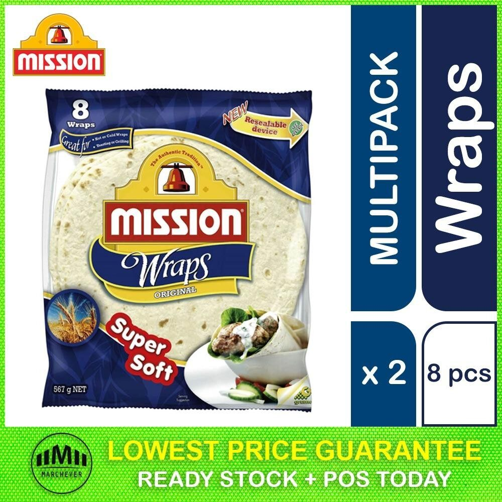 Mission Original Wraps, 8 pieces ( 2 units )