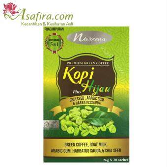 Harga Nareena Kopi Hijau 5 in 1 20 Sachets - 2 Units