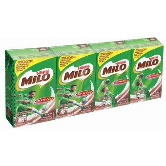 Harga NESTLE MILO Activ-Go Chocolate Malt 4x 125ml