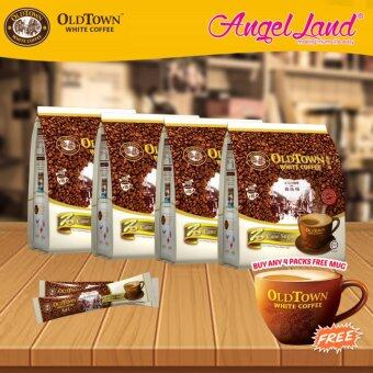 Harga OldTown White Coffee 3 in 1 Instant Premix White Coffee x 4PacksCane Sugar + Free Coffee Mug