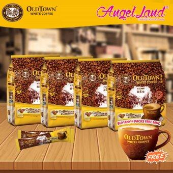 Harga OldTown White Coffee 3 in 1 Instant Premix White Coffee x 4PacksCoffee & Creamer + Free Coffee Mug