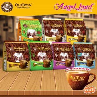 OldTown White Coffee 3 in 1 Instant Premix White Coffee x 4PacksLess Sugar + Free Coffee Mug - 2