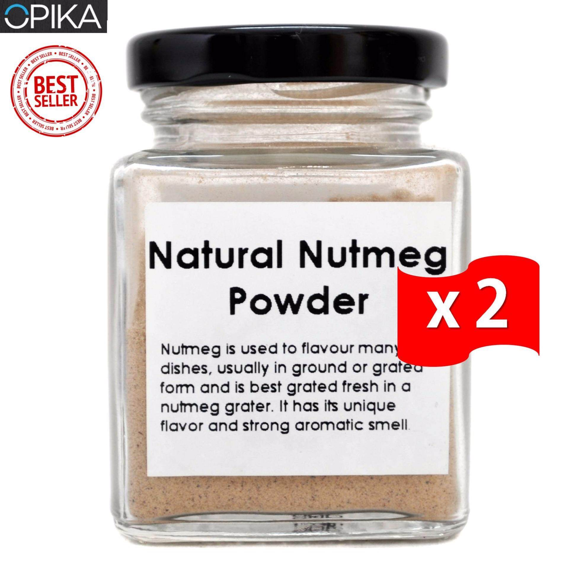 OPIKA Natural Nutmeg Powder 50g (Twin Pack)