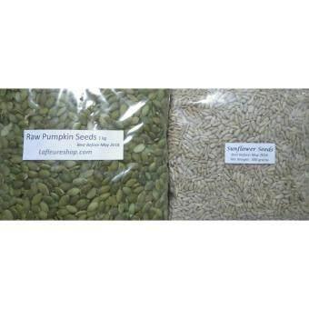 Organic Raw Pumpkin Seeds 1 kg + Raw Sunflower Seeds 500 grams