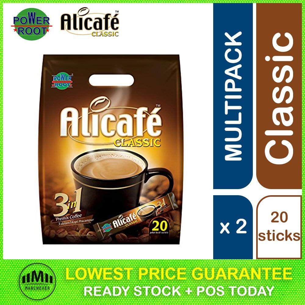 POWER ROOT Alicafe Classic Premix Coffee Instant 3 in 1 ( 2 Packs )