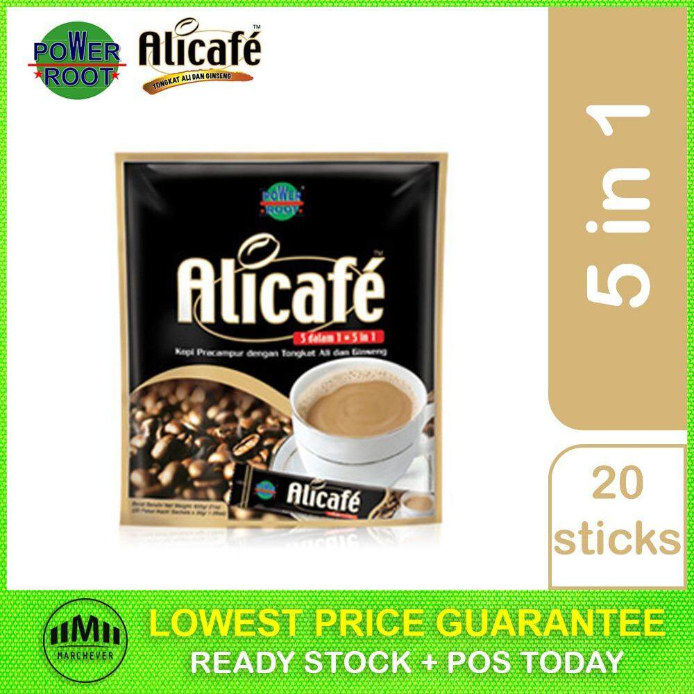 POWER ROOT Alicafe Instant 5 in 1 With Tongkat Ali and Ginseng (ORIGINAL 30g) A