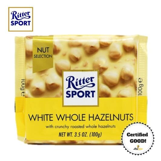 Ritter Sport White Whole Hazelnuts 100g