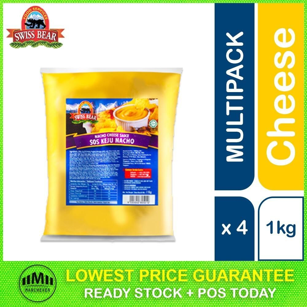 Swiss Bear Nacho Cheese Sauce 1kg, 4 packs