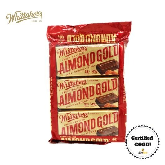 Whittaker's Almond Gold 135g (with Ice Cold Pack)