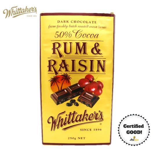 Whittaker's Rum & Raisin 50% Cocoa 250g