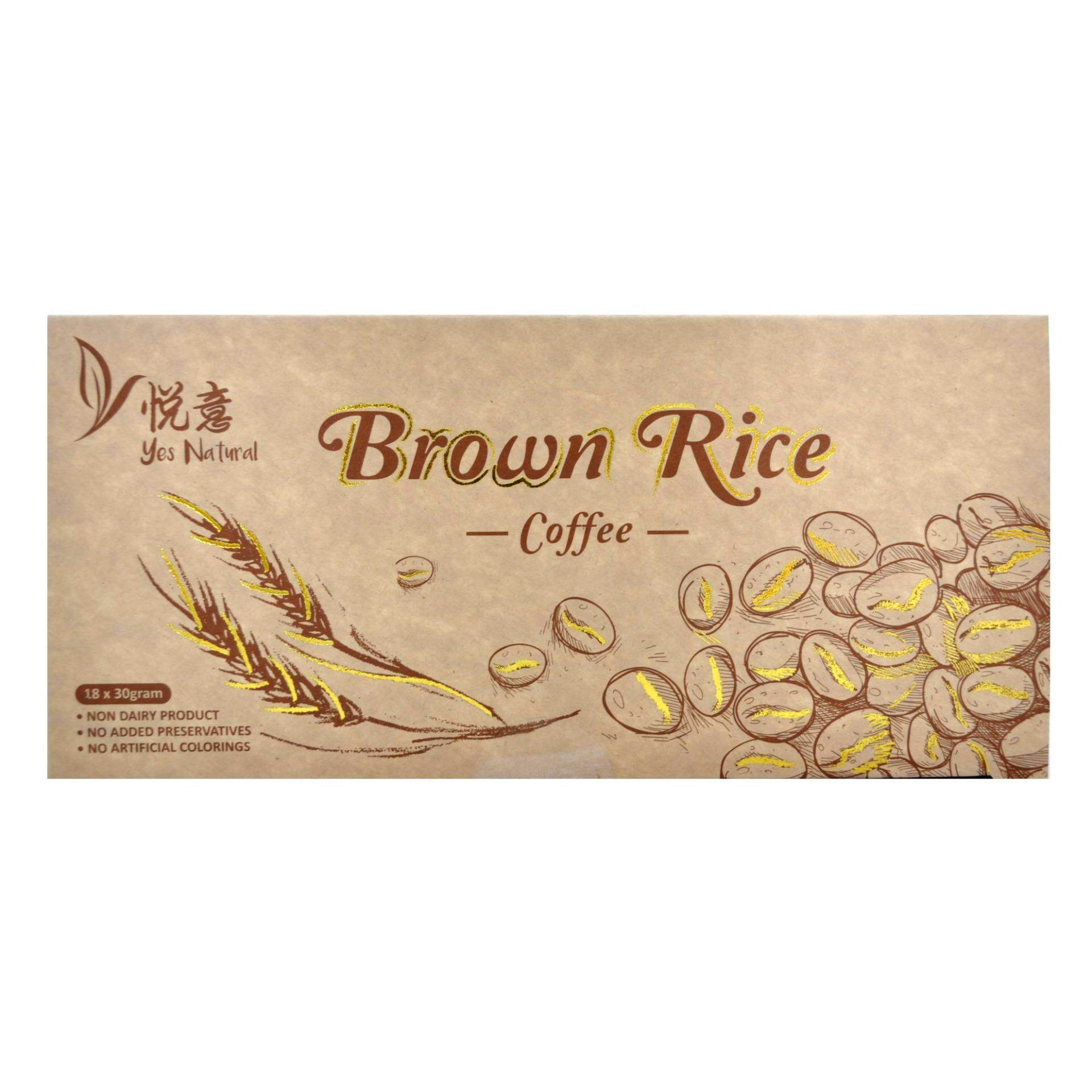 YES NATURAL Brown Rice Coffee 30g x 18 sachet / box