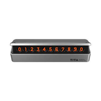 Glow In The Dark Temporary Parking Phone Number Plate-Silver