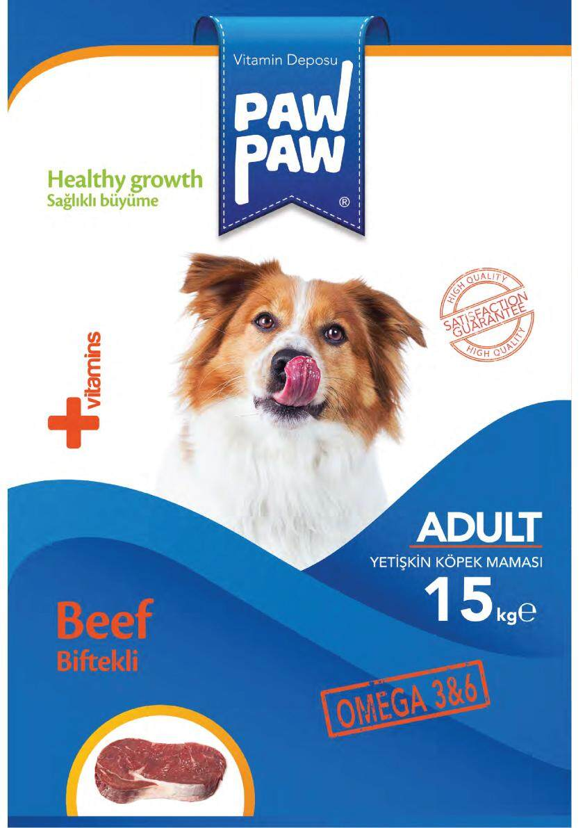 (FREE SHIPPING) 3KG PAWPAW HIGH QUALITY ADULT BEEF DOG FOOD