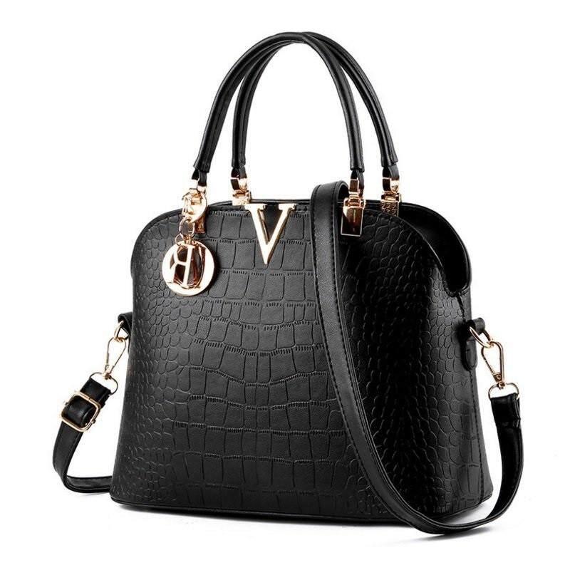 1ef8f5a8a6c041 Set Handbags - Vence 403 V European PU Handbag - [BLACK ...