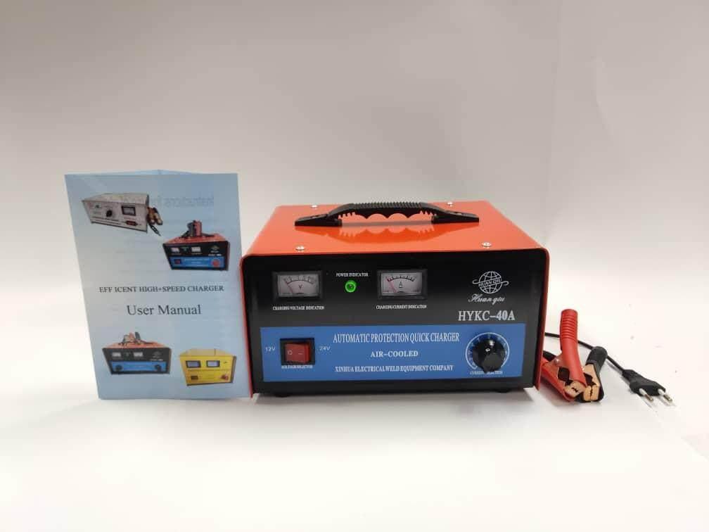 Efficient High Speed Battries Charger Copper Transformer 12v - 24v 40A car battery charger (Suitable for Batteries Below 80AH) Input Voltage 210V-230V