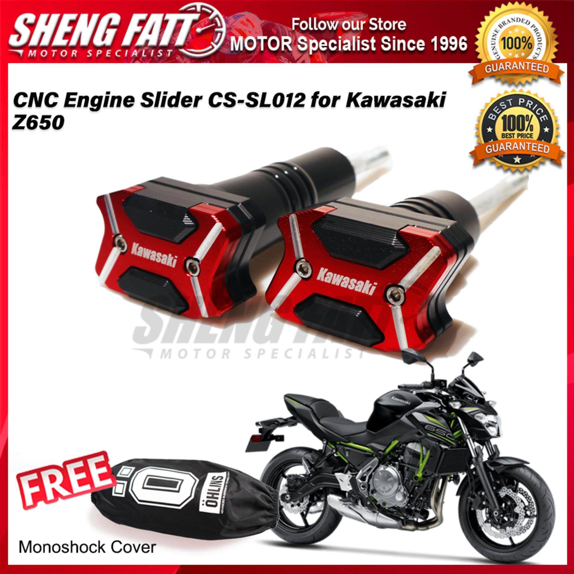 CNC Engine Slider CS-SL012 for Kawasaki Z650 FREE Mono Shock Monoshock Cover