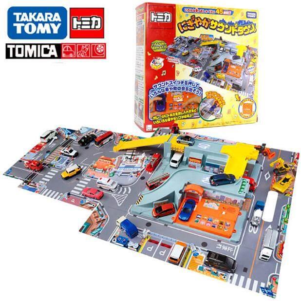 Takara Tomy Doka Alloy Truck track set toy City town sound effect stereo map handbag 857129