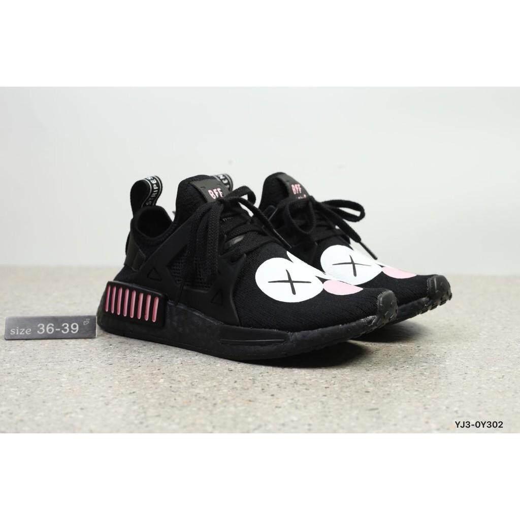 สอนใช้งาน  ศรีสะเกษ Adidas Originals NMD_R1 PK BASF PopCorn รองเท้าบุรุษรองเท้าผู้หญิง GYM รองเท้า