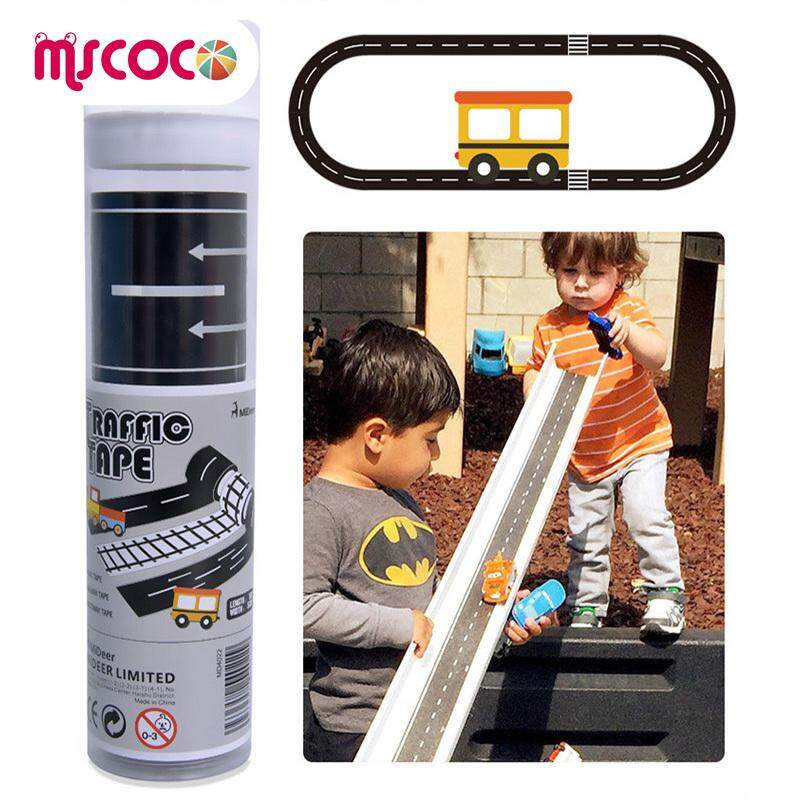 Road Tape for Car Toys Car Runway Adhesive Play Floor Sticker Removable Track