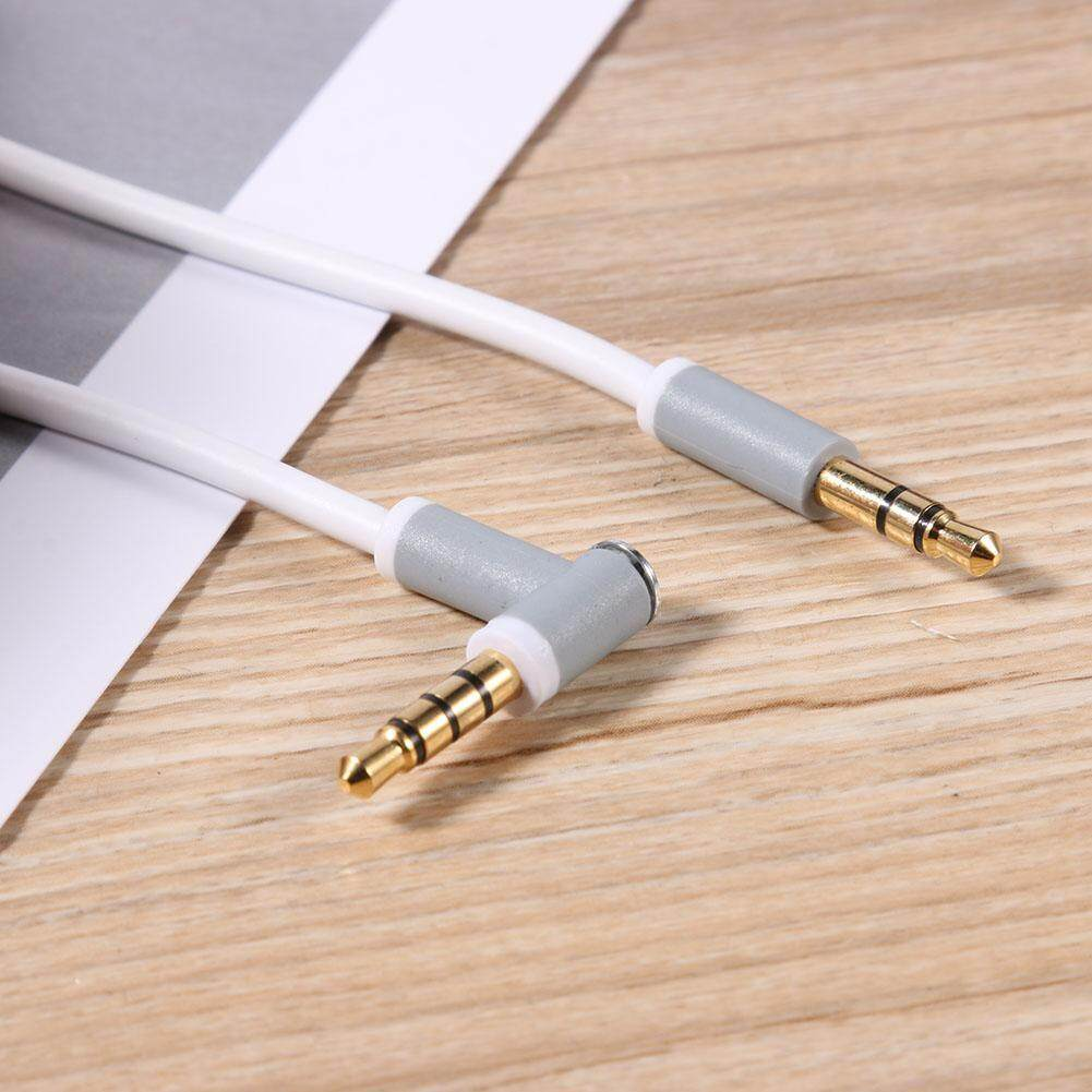 ... Penggantian 1.38 M 3.5 Mm 90 Derajat MALE LURUS Male Stereo Audio Kabel ...