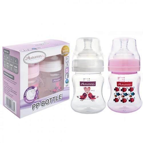 Autumnz PP Wide Neck Feeding Bottle 2x4oz/120ml (Twin Pack) BPA-Free