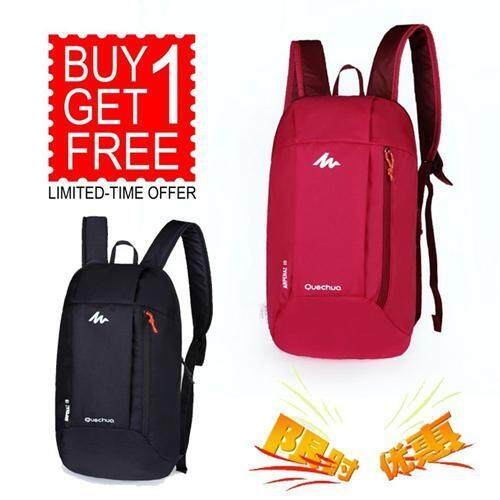 【Buy 1 Free 1-RANDOM COLOR】Arpenaz 10 Kids Adults Outdoor Backpack Daypack Mini Small Bookbags