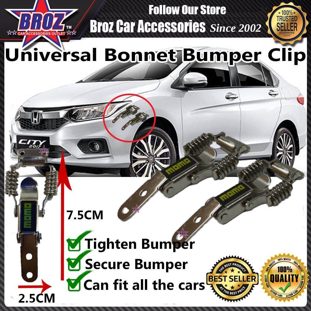 Universal Car Bonnet Bumper Clip Small - Momo Aluminium