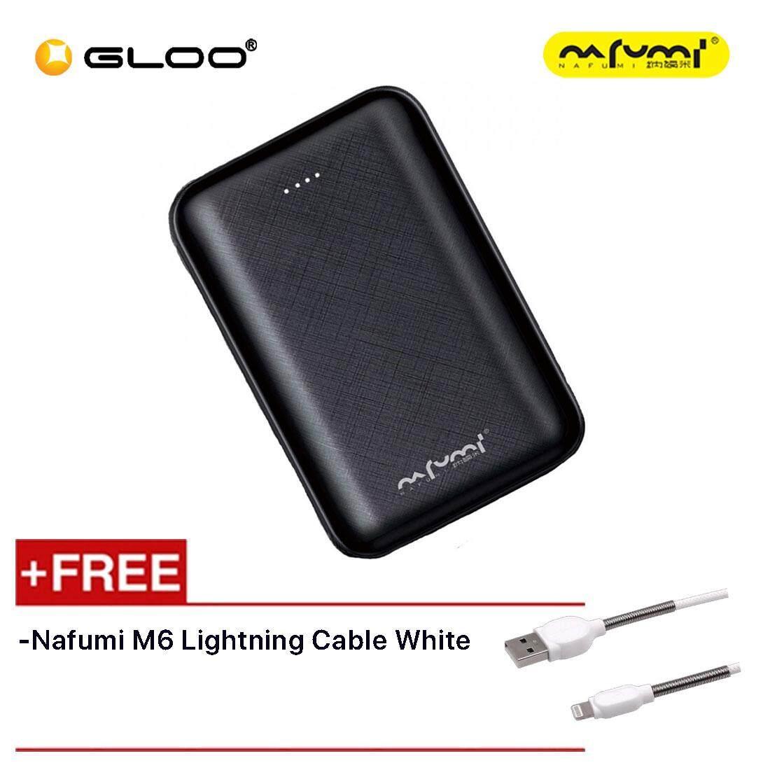 Nafumi B180 10000Mah Power Bank Black Free Nafumi M6 Lightning Cable White