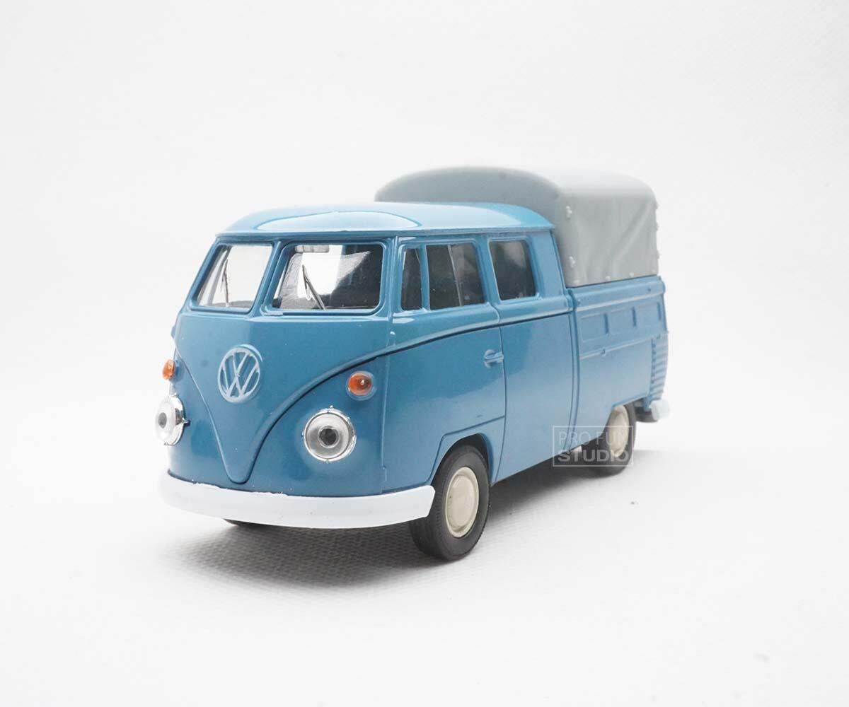 Welly VW Volkswagen T1 Double Cabin Pick Up 1950 1/36 1/32 1/34 Diescat Car model Blue