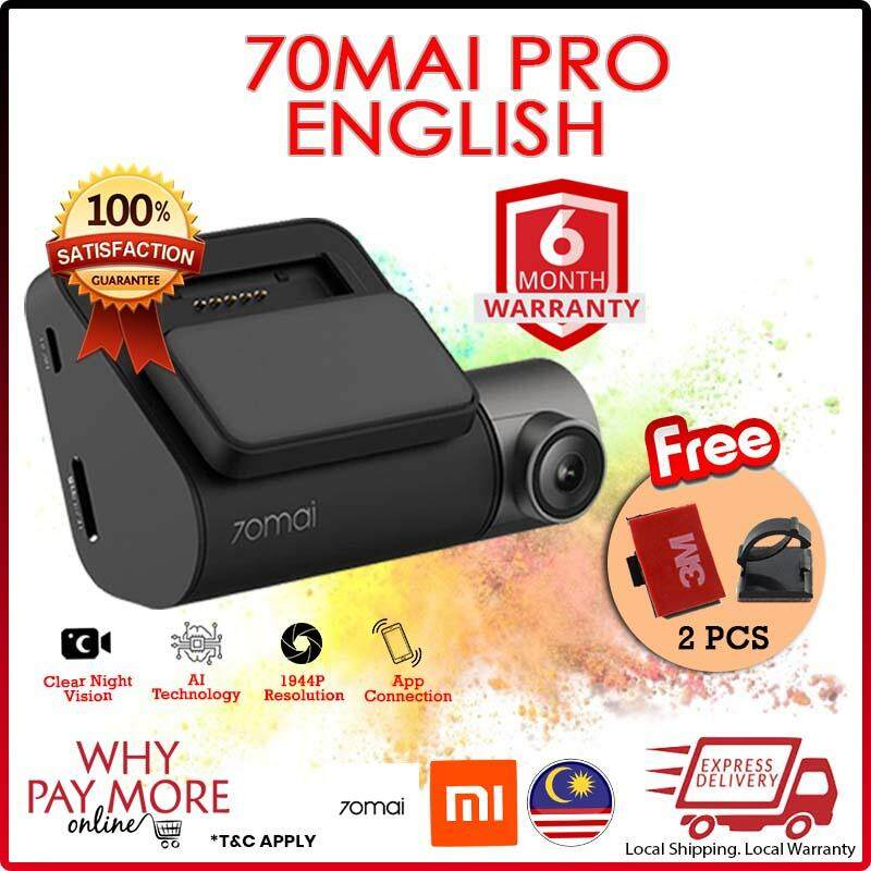 [READY STOCK] LOCAL FLASHED ENGLISH UI XIAOMI 70mai Pro Dash Cam Pro 1944P HD Car DVR Camera SONY IMX335 Sensor 140 Degree FOV 70 Mai Dashcam