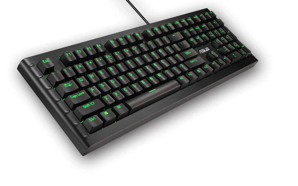 Asus Sagaris GK1100 Gaming Mechanical Keyboard with MX Cherry Blue Switch RGB Customizable Programmable Full Sized Key