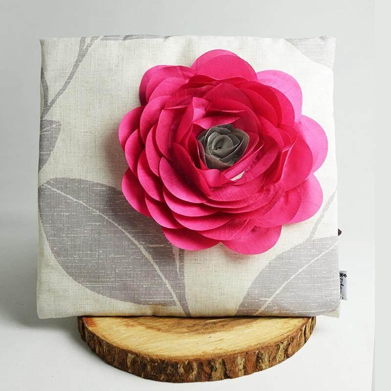 Designer Series 3D Decorative Embroidered Throw Pillow, 40cm x 40cm for Home Sofa Car Bedroom Decor Design PL1004