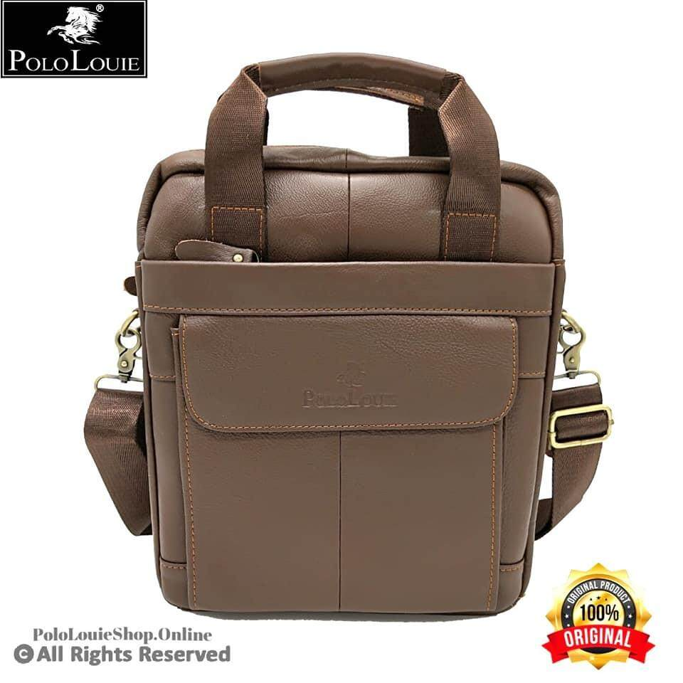 Original Polo Louie Men's Genuine Leather Sling Bag Handcarry Bag Messenger Bag97