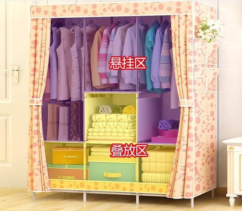 DIY Wardrobe Folding Closet Storage Bedroom Furniture Simple Waterproof Cabinet