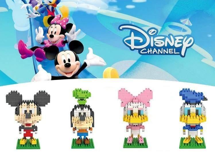 Set of 4 Cute Mickey & Friends Loz Nano/Diamond Block Figure [Birthday Gift/Present][DIY]