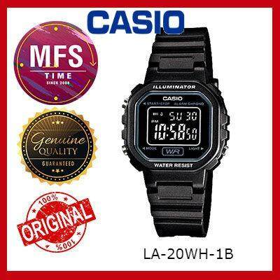 (2 YEARS WARRANTY) CASIO ORIGINAL LA-20WH-1B DIGITAL KID'S WATCH