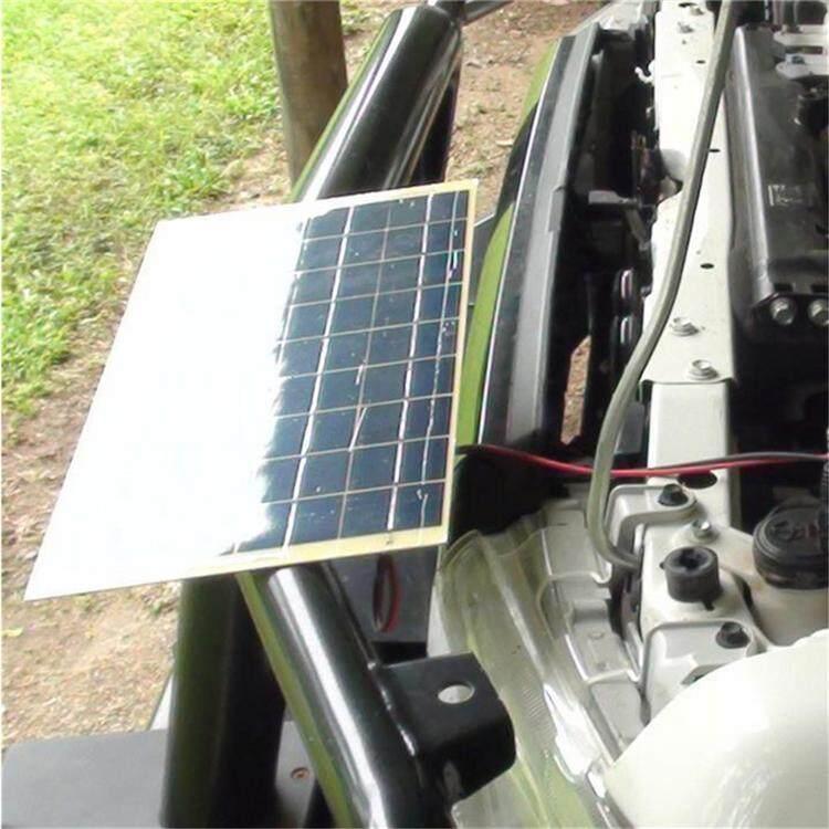 Hcort Store 5.5W 18V Silicon Bảng Điều Khiển Năng Lượng Mặt Trời Module Sạc Kèm Pin Kẹp Cho Ô Tô 12V Cắm Trại Thuyền pin Sạc Dự Phòng